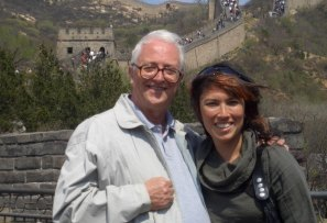 Danny Kane with daughter Zya/Julia on the Great Wall, 2009.