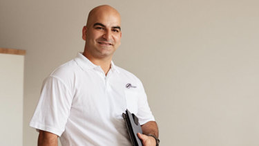 Hamid Ranjbarian had appeared as the face of a television campaign, spruiking the benefits of small business ownership to new migrants.