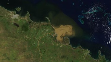 Summer flooding in north Queensland delivers significant freshwater runoff into the Coral Sea creating concerns over the impact to the adjacent Great Barrier Reef.