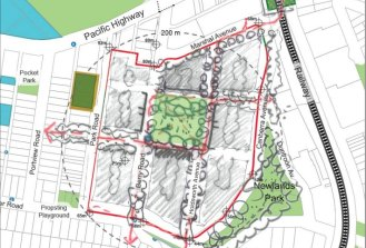 A design workshop attended by senior planning bureaucrats suggested a grid-like layout around a central park.