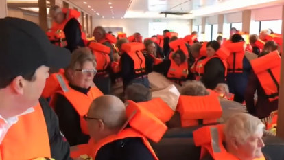 'Dishes were all over the place': Stricken cruise ship escorted to port