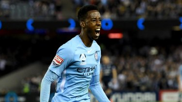 Heading north: Melbourne City forward Bruce Kamau is set to join the Western Sydney Wanderers.