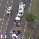 The wreckage on Brisbane Road.