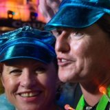 City of Sydney councillor Christine Forster and her wife Virginia Edwards at Mardi Gras.