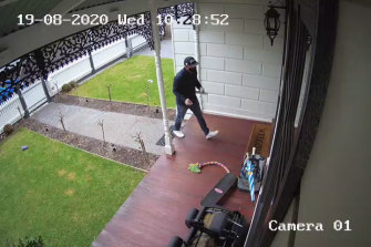 Photos taken during the IBAC raid on sacked V/Line chief executive James Pinder's home.