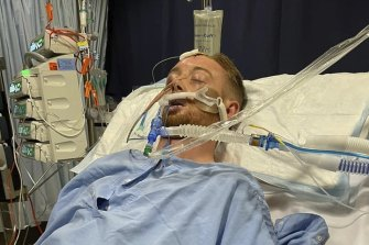 Danny Hodgson is in an induced coma in Royal Perth Hospital after being coward hit.