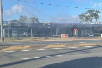 C'ba Hair owner Emma Hayes said her salon had burnt down in the fire on Old Cleveland Road, Capalaba, south of Brisbane.