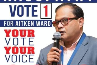 Ravichandran Ragupathy stood for election to Hume City Council last year.