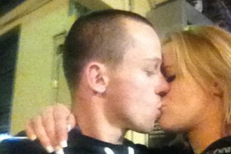 A photo from Katrina Bohnenkamp's Facebook page showing her kissing an unknown male. Anyone who knows him should come forward.