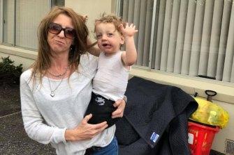 Stacie Saggers and her son Jaiydn Gomes.