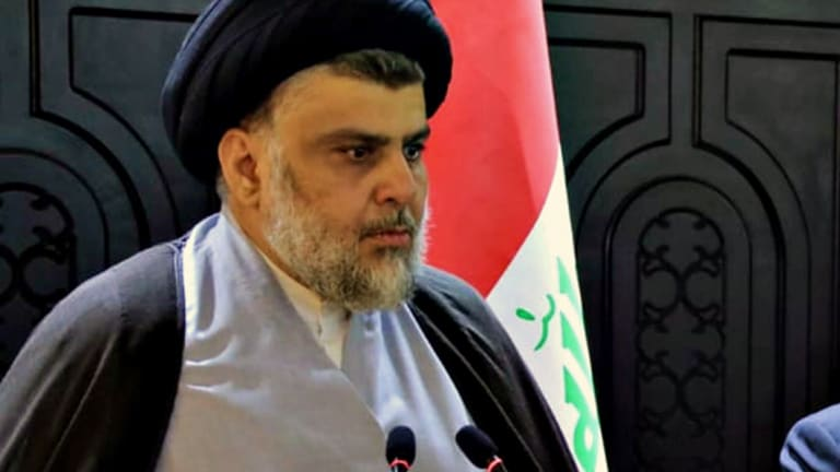 Shiite cleric and politician Moqtada al-Sadr.