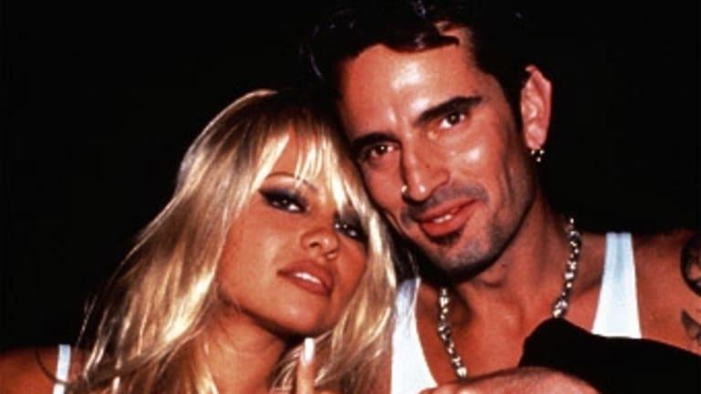 Pamela Anderson and former husband Tommy Lee.