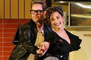 Chantelle Jamieson, Gareth Davies, and Andrea Demetriades in Sydney Theatre Company's Home, I'm Darling.