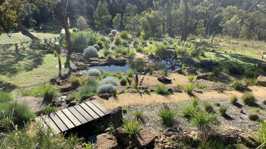The Bellbrae garden includes a Phillip Johnson water feature.