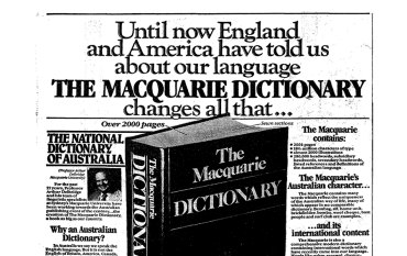 From the Archives, 1981: A dictionary by Australians, for Australians