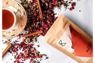 A variety of herbal and fruit teas are made by Taste Kaleidoscope Teas