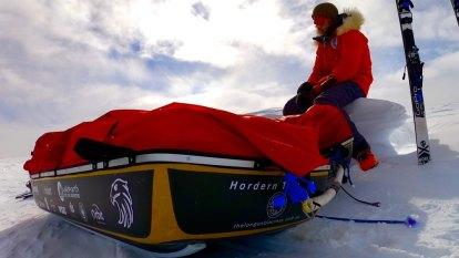 Gold Coast polar explorer breaks record for longest unaided Antarctic trip
