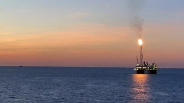 The Ichthys Explorer offshore LNG production platform - part of Australia's fastest growing emissions source.