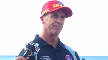 Urging caution: Surf Life Saving NSW CEO Steven Pearce speaks to reporters on Wednesday.