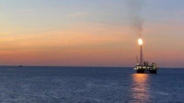The Ichthys Explorer offshore LNG production platform.