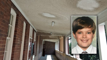 Sebastian is changing schools because of mould at Fort Street selective school in Petersham.