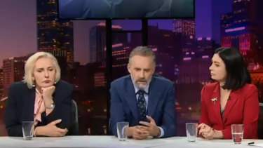 Cate McGregor, Peterson and Terri Butler on Q&A.