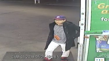 Mario Phetman was last seen in this CCTV footage at a service station.