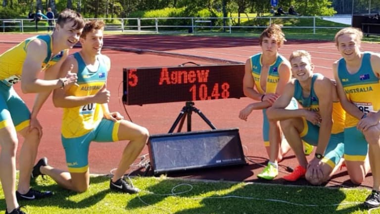 Record breaking Canberra sprinter Tom Agnew has set tongues wagging.