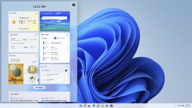 Windows 11 introduces a new widgets pane, as well as redesigned notifications and settings.