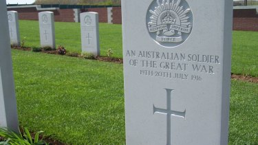 Fromelles Pheasant Wood Military Cemetery.