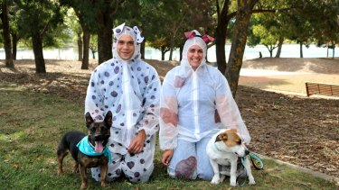 The Million Paws Walk in Canberra will also be a chance to beat the world record for the largest gathering of people dressed as dogs.
