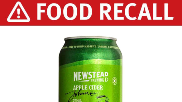 Queensland Health warns of cider recall