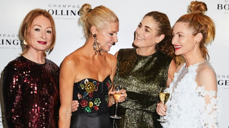 (L-R) Alex Smart, Heidi Middleton, Jackie Frank and Genevieve Smart at the Bollinger R.D. 2004 dinner at the Art Gallery of NSW.