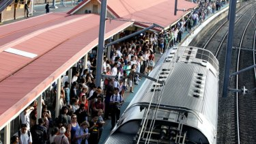 Crowding has worsened significantly on Sydney's trains over the past year.