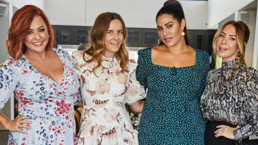 Panellists Shelly Horton, Lisa Messenger, Jessic Vander Leahy and Kate Ritchie.