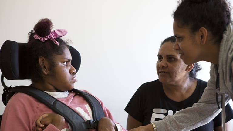 Ellen's family have been trained by speech pathologists and occupational therapists to manage her meals and hydration.