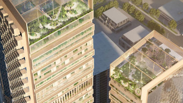 """The """"Green Spine"""" is designed to reach 356 metres high."""