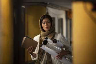 Razie Mansori plays a character caught up in subterfuge in the Iranian movie Careless Crime.