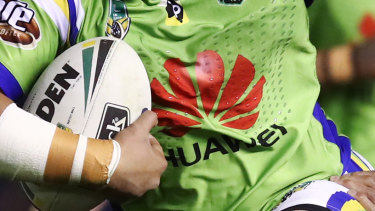 Huawei has been the major Canberra Raiders jumper sponsor for eight years.