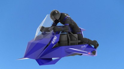 Meet the Aussie building a flying motorcycle powered by jet engines