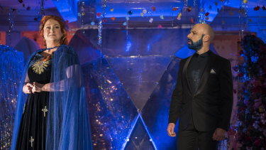 Zara Barrett and Adrian Tamburini in Bluebeard's Castle.