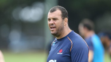 Michael Cheika as Waratahs coach in 2014.