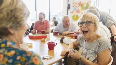 A thriving community can lead to a happy life in retirement.
