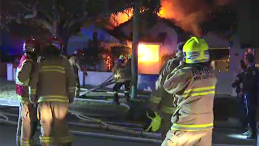 The blaze at the Kingsford home broke out early on Saturday morning.