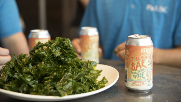 The ulva farm-grown seaweed from the University of the Sunshine Coast's Bribie Island facility used by Newstead Brewing Co to make seaweed beer