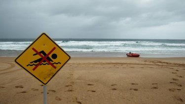 Life savers have closed several beaches due to dangerous storms.