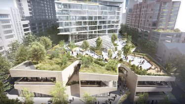 Artist's impressions of AMP's new Quay Quarter Tower at Circular Quay in Sydney.