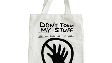 Don't Touch My Stuff Tote x David Shrigley, $32.