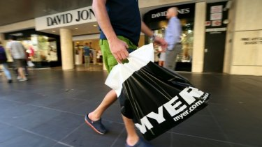 Myer is stopping selling Apple products.