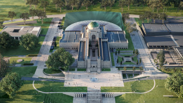 An artist's impression of the expanded of Australian War Memorial.